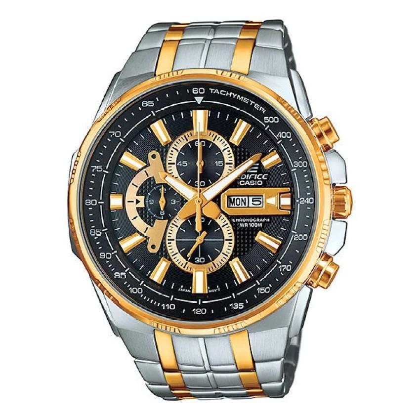 Casio Edifice นาฬิกาข้อมือผู้ชาย สีดำ สายสแตนเลส รุ่น EFR-549SG-1AV