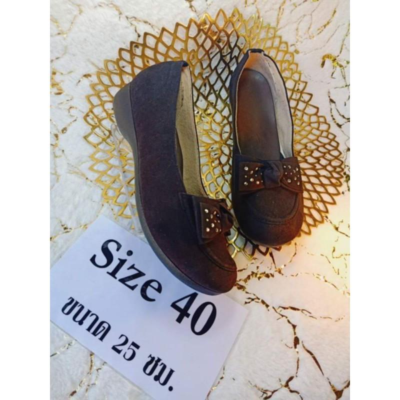 รองเท้าคัชชูสีดำ ไซส์ 40 ความยาว 25นิ้ว