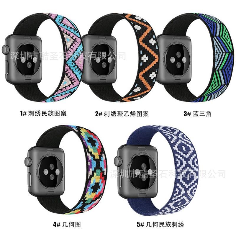 สายนาฬิกาข้อมือแบบถักสําหรับ Apple Watch