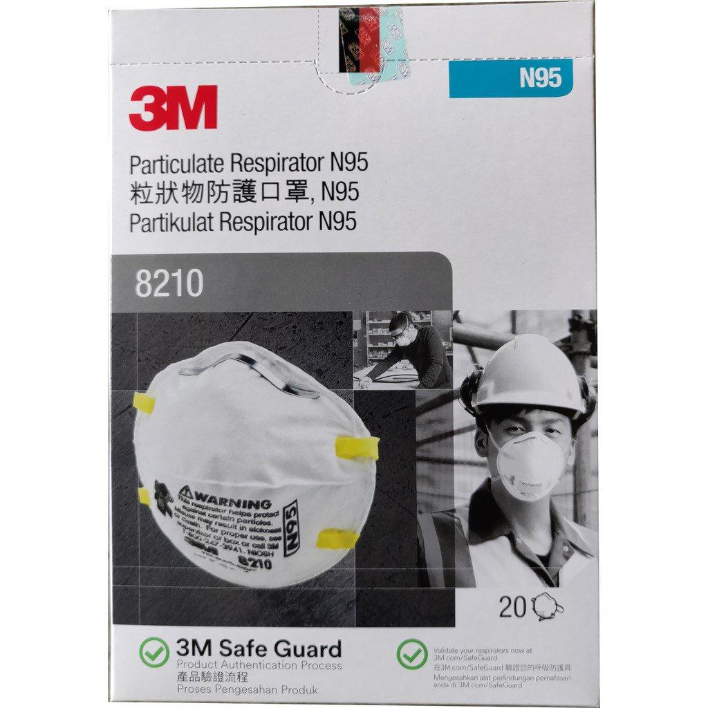 e75R 3M Particulate Respirator 8210 , N95 Mask (20pcs/box)