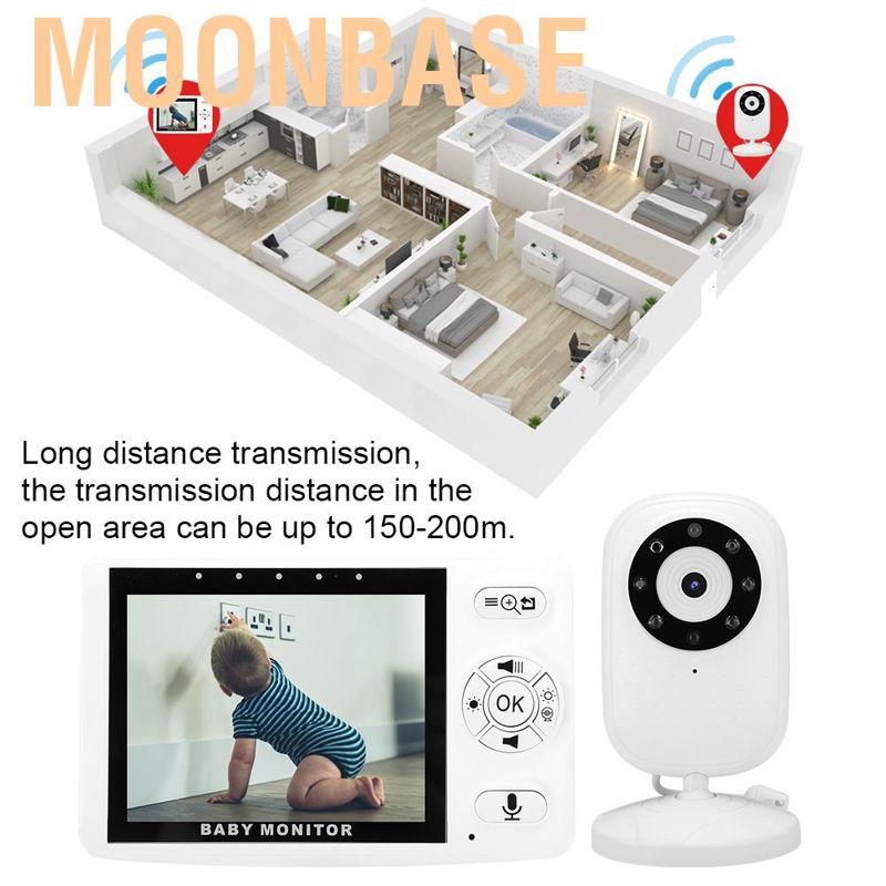 Moonbase กล้องมอนิเตอร์แบบไร้สาย 3 . 5 นิ้วพร้อมเซนเซอร์อุณหภูมิ