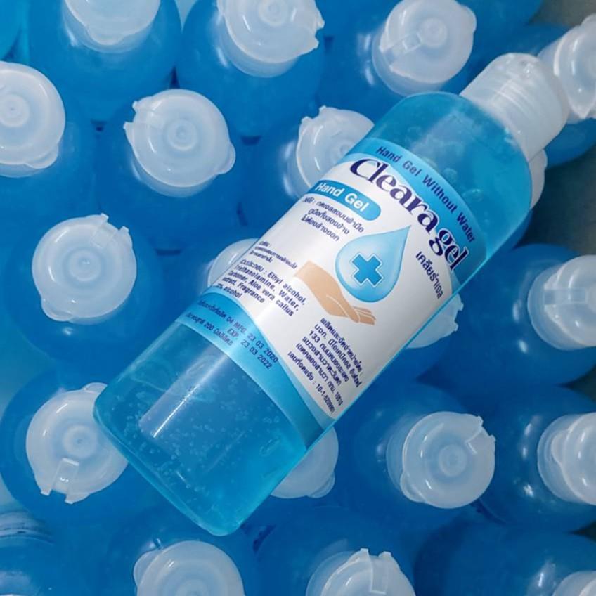 เคลียร่าเจล Cleara gel 200 มิลลิลิตร ขายส่ง 30 ขวด 3500 บาท เจลล้างมือเอทธานอลแอลกอฮอล์ผสมอโลเวร่าถนอมมือ Ethanol 76%v/v
