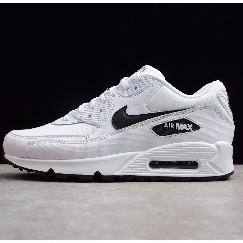 ต้นฉบับ Nike Air Max 90 All White Leather Men Running Shoe Classic Style Sports Shoes 36-45