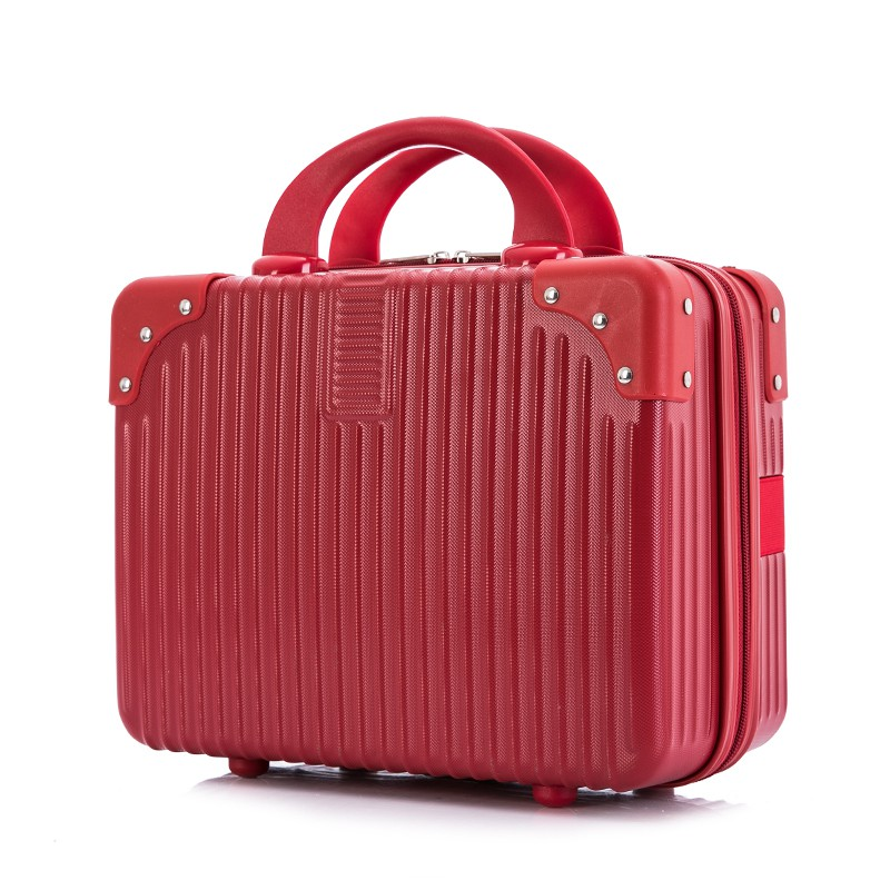 นิ้ว กระเป๋าลาก กระเป๋าเดินทางล้อคู่ แข็งแรง ยืดหยุ่นสูง น้ำหนักเบา ตัวกระเป๋ากันน้ำการขึ้นเครื่องน้ำหนักเบา14กรณีเครื่อ