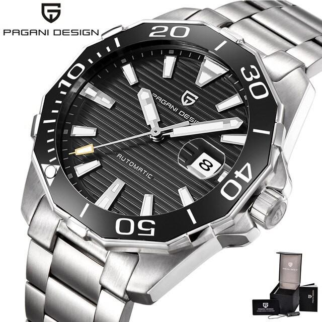 Black Pagani Design PD-1617 Luxury Men Watch Men's Watches Waterproof