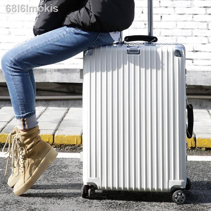 ⊙กระเป๋าเดินทาง โครงอลูมิเนียม 24 นิ้ว กระเป๋าเดินทางล้อลาก ตัวผู้ 28 นิ้ว กล่องใส่รหัสผ่าน รถเข็นผู้หญิง
