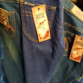 กางเกงยีนส์roseเดฟยืดผู้หญิง เลือกแต่งขาดหรือเดิมๆได้ dden