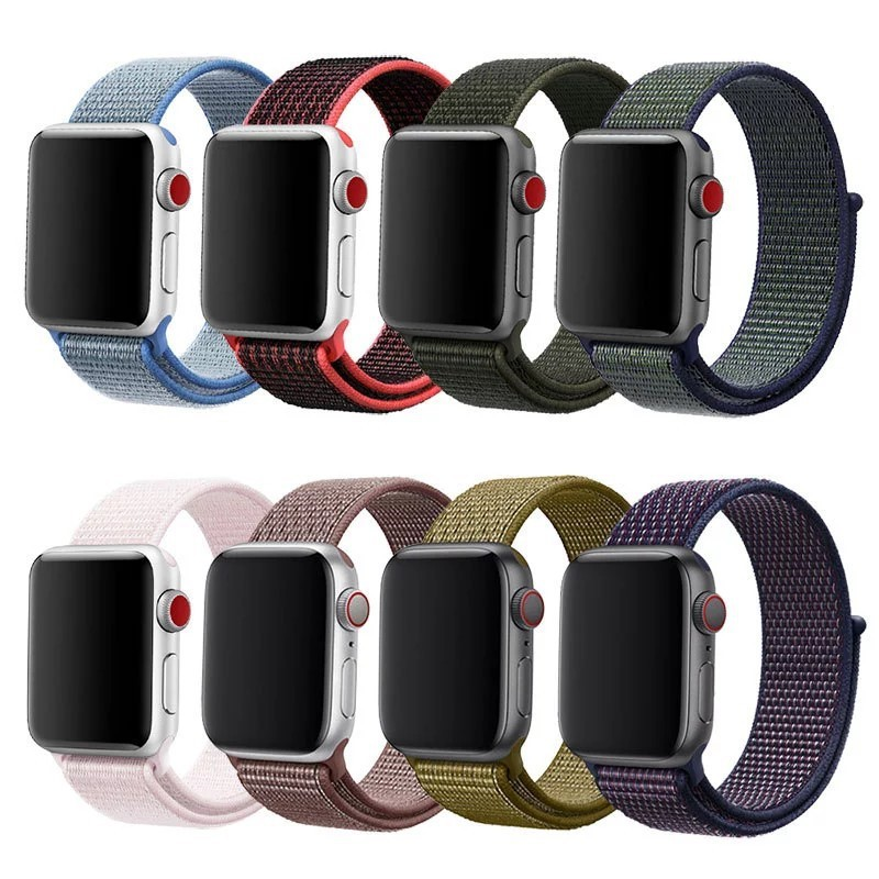 สายนาฬิกา แอปเปิ้ลวอช Apple Watch series 1 2 3 4 5 ขนาด 42/44 mm สายนาฬิกา สายไนล่อนถัก (Sport Loop Woven Nylon)