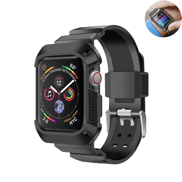 Rugged Case Armor Apple Watch Iwatch Rubber Sport Strap 42mm 38mm Soft Casing Bkn Spigen 40mm O3IT