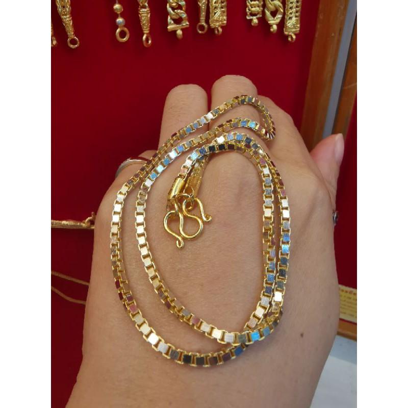 สร้อยคอทองแท้ 96.5%  เลเซอร์ทองคำขาว น้ำหนัก 2บาท ยาว 22.5cm ราคา57,900บาท