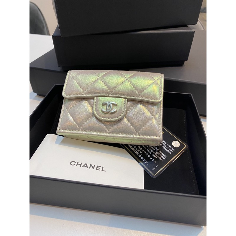 New #Chanel Classic #Trifold S Small Wallet อปก Fullset no rec.