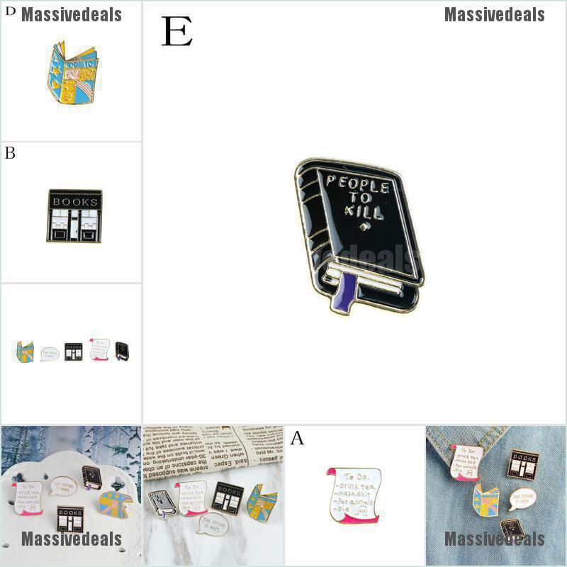 {bigmango}1pc Enamel Pin Buckle books to do listing Pins Brooches Lapel Jewelry Jeans cute ADORE