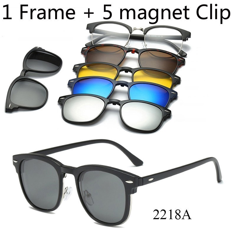 Retro Magnetic Pilot Mirrored Sunglasses Driving Eyewear Clear Eye Glasses US