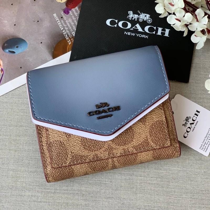 พร้อมส่งที่ไทยค่ะ coach แท้💯%กระเป๋าสตางค์ใบสั้น 31548