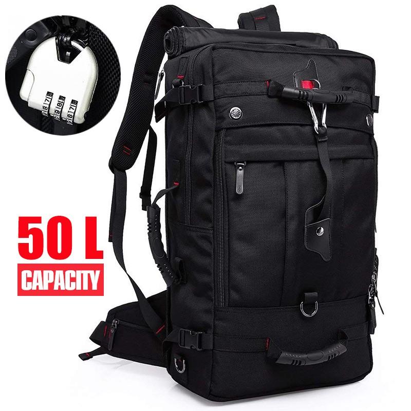 KAKA กระเป๋าสัมภาระ 3-in-1 กระเป๋าเดินทาง สะพายหลัง สะพายไหล่ กระเป๋าถือ 50L Travel Backpack Luggage รุ่น 2070 (50 ลิตร)