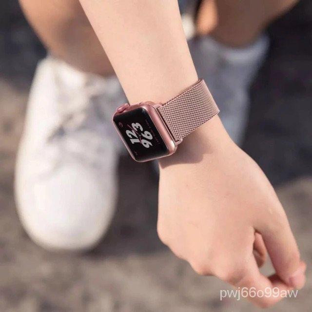iluสายนาฬิกาข้อมือ AppleWatch 42 มม. 38 มม. 40 มม. 44 มม. series 6 5 4 3 2 1 สายsmart watch Fp5/p90proสาย AppleWatch H2y