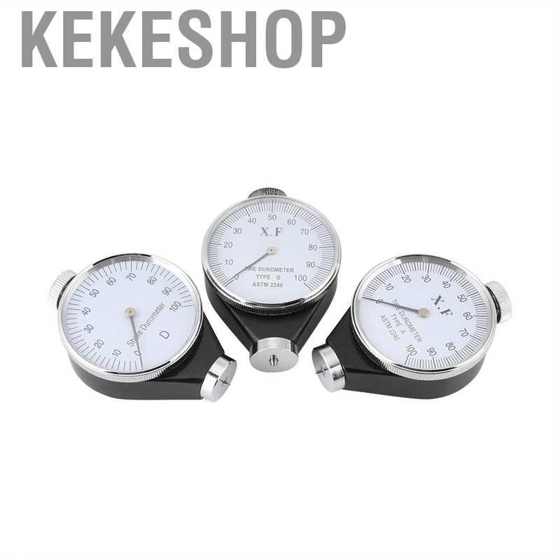 Kekeshop Shore A O D Hardness Gauge Durometer 100HA Tester Tire Rubber Meter Sclerometer