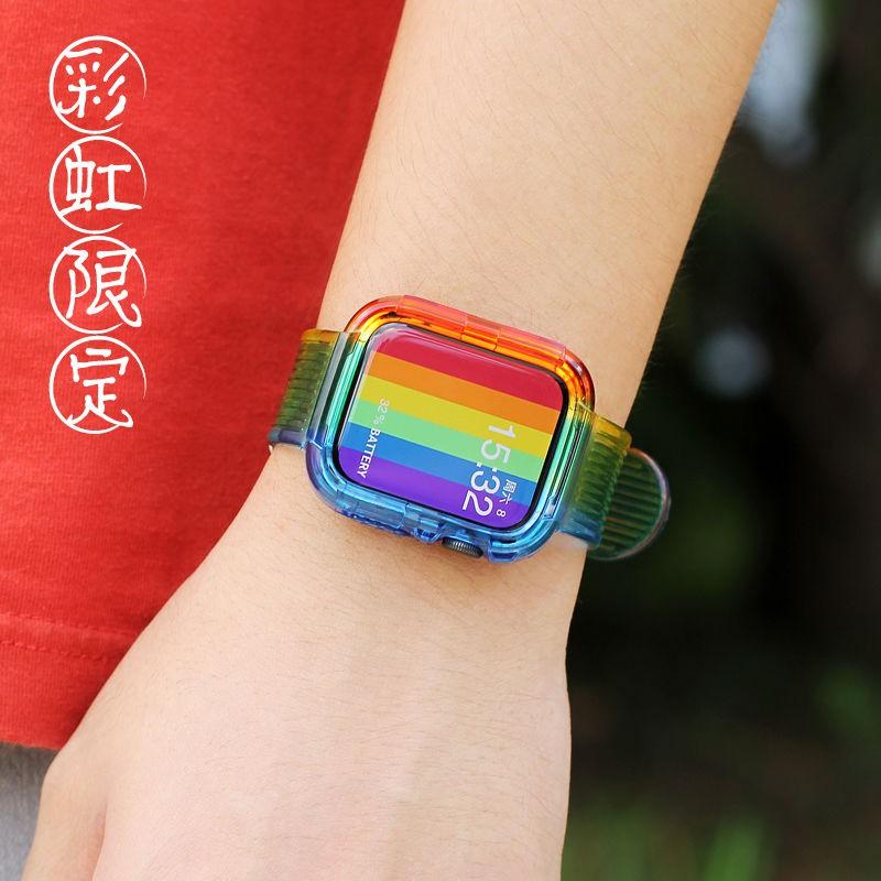 เคสนาฬิกาข้อมือสีรุ้งสําหรับ applewatch applewatch SE watch iwatch 4/5 generation 6