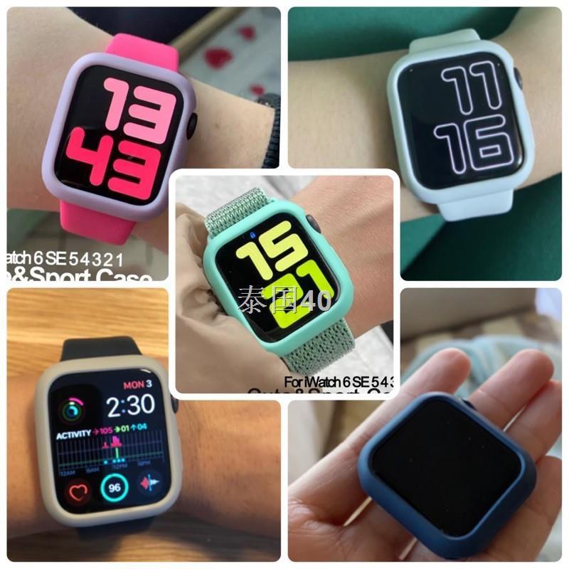 ขาย❍✠พร้อมส่งจากไทย เคส Apple Watch สำหรับ IWatch series SE/6/5/4/3/2/1  Silicone Case Apple Watch 40&44mm