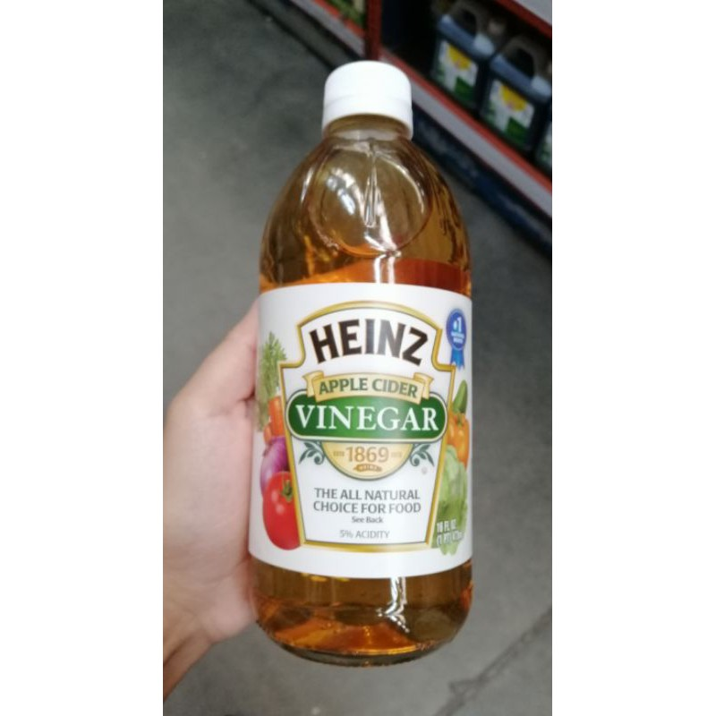 HEINZ Apple Cider Vinegar ไฮนซ์น้ำส้มสายชูหมักจากแอปเปิ้ล ขนาด 473 มล.