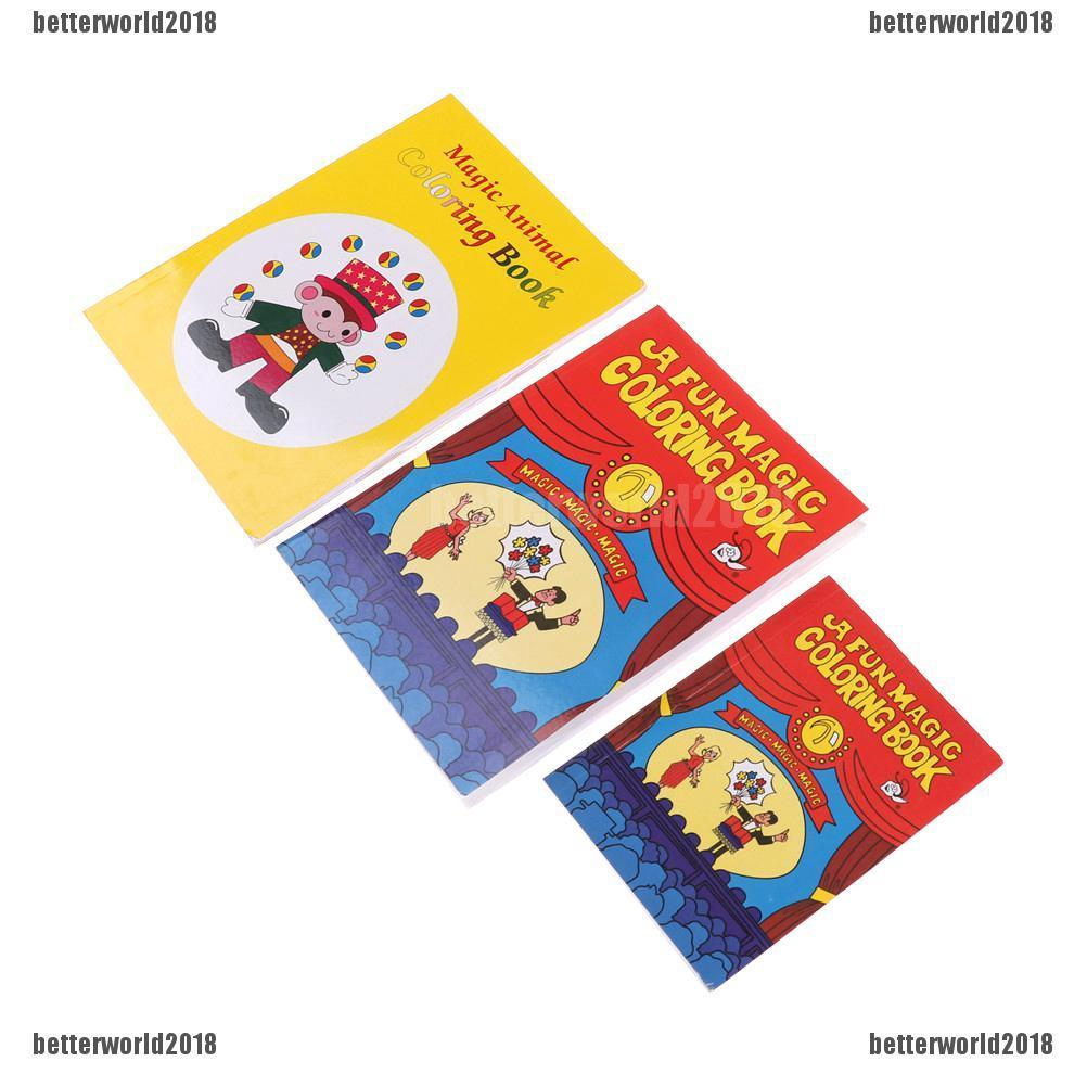 ♑BEW♑ Funny Coloring Book Comedy Magic Books Close-up Street Magic Tricks Toy [OL]