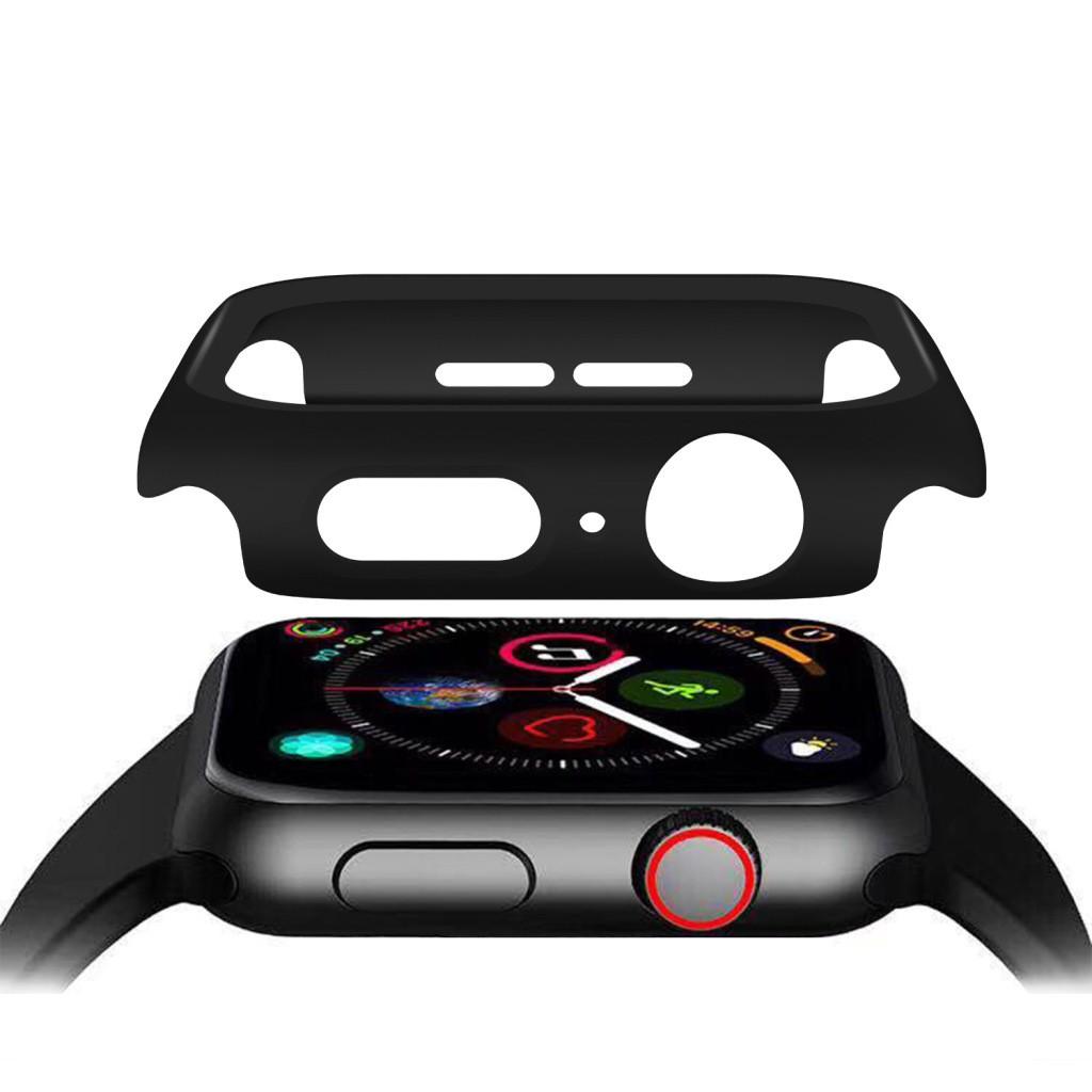 เคส applewatch 44mm / 42mm /40mm / 38mm case applewatch series 5 / 6 /SE / 3 / 4 ด้วยกระจกนิรภัยป้องกันลายนิ้วมือป้องกัน