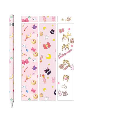 ❤️ของครบ 19 ลาย❤️ สติ๊กเกอร์ Apple Pencil 1/2 Case Stickers Cute cartoon pattern ลายน่ารักๆ ลาย แบ๊วๆ Sailor Moon  หัวใจ สีชมพู