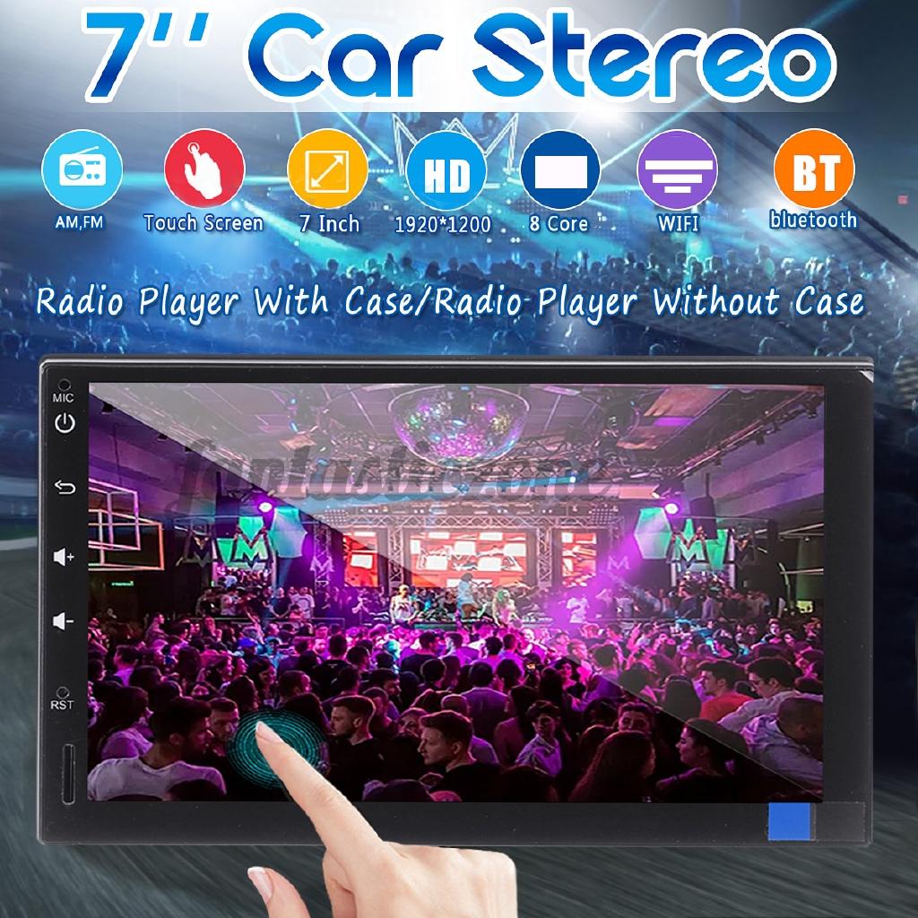 7 นิ้ว 2 din เครื่องเล่น mp 5 player สําหรับ android 9 . 0 car stereo radio 8 core 4 ram+32 g หน้าจอสัมผัสเชื่อมต่อบลูทูธ 4g