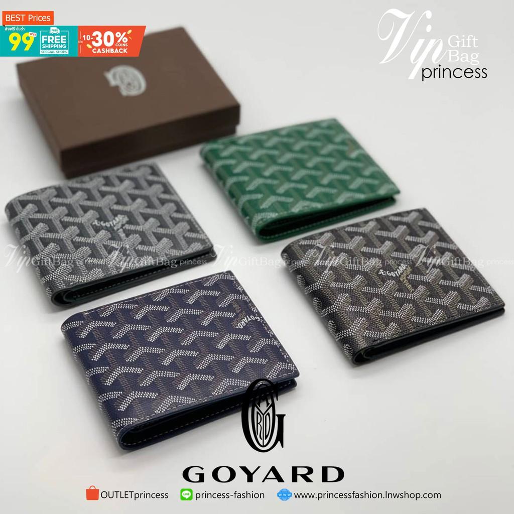 พรีเมี่ยมกิ๊ฟแท้ 100% 】GOYARD Victoire Bifold Wallet กระเป๋าสตางค์ผู้ชายใบสั้น พร้อมส่ง 4 สี พร้อมกล่องสวยหรูน่าใช้มากค่