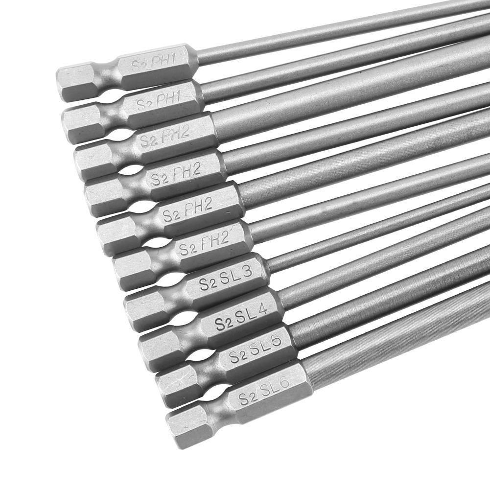 "5pcs 1//4/"" Hex 65mm PH2 Magnetic Screwdriver Drill Holder Bit Set S2 Steel GLF"