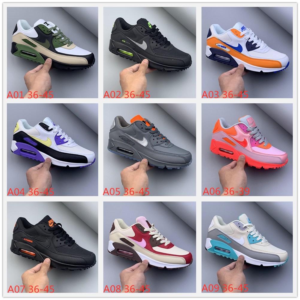 Nike Air Max 90 Nike Air Max 90 Nike Max 90 รองเท้าผ้าใบลําลองสําหรับผู้ชายผู้หญิง
