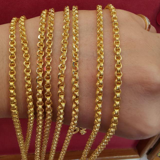  สร้อยคอทอง 96.5%  น้ำหนัก 2 สลึง ยาว 25-27cm  ราคา 14,900บาท
