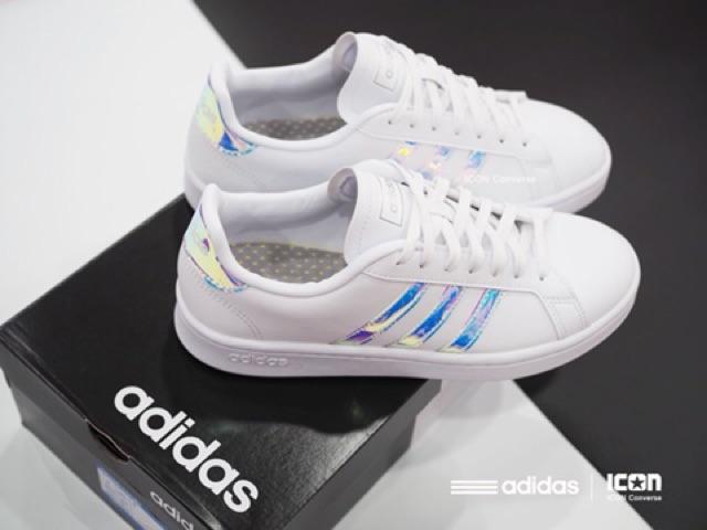 adidas grand court k holographic