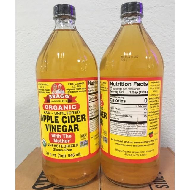 Apple cider vinegar (ACV) ขวดใหญ่ 946ml. แท้ 💯%  keto น้ำส้มสายชูแอปเปิ้ล ราคาถูกที่สุด