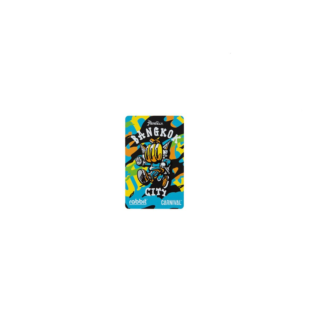 """บัตรแรบบิท CARNIVAL™ Rabbit Card """"Artist Series"""" [ลิขสิทธิ์แท้ CARNIVAL Thailand ]"""
