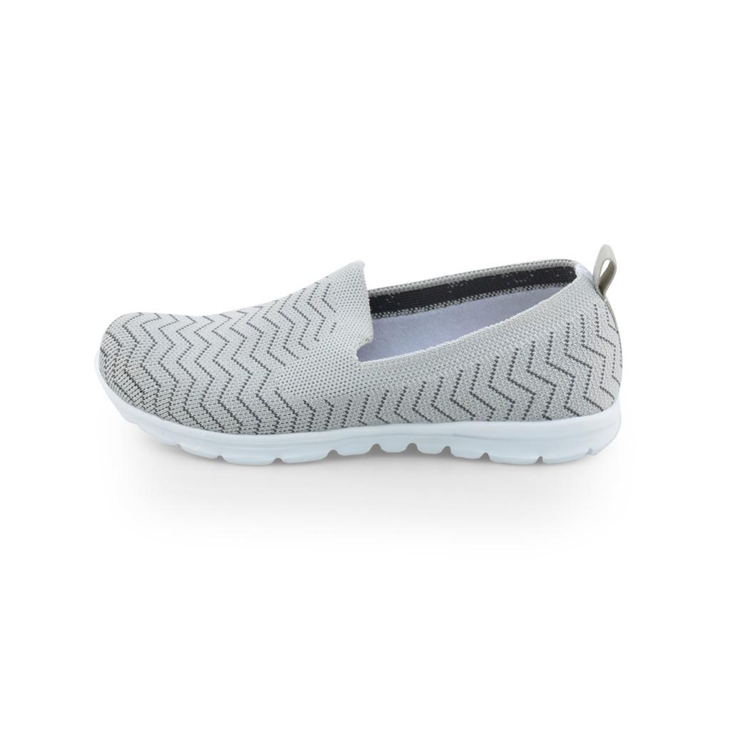 รองเท้าคัชชู เพื่อสุขภาพ แบบลำลอง หัวมน ส้นแบน พื้นเมมโมรี่โฟม POLO CLUB P1852 สีเทา