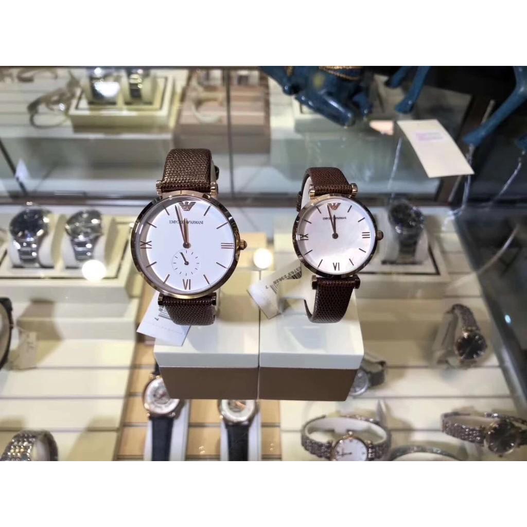 Emporio Armani นาฬิกาแบรนด์เนมแท้ 100% รุ่นสุดฮิต มาพร้อมกล่อง Emporio Armani Men & Women Couple Watch