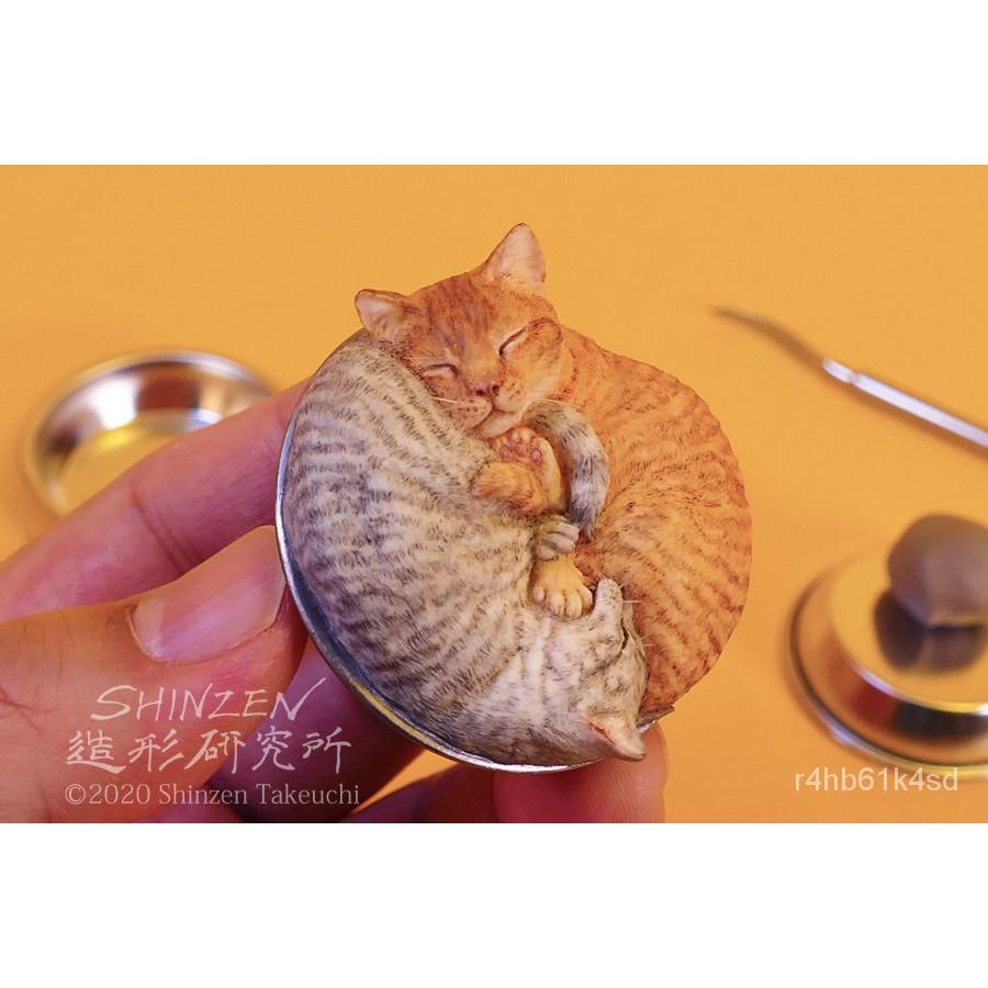 Resin Figure Kit Sleeing Cat Unainted Garage Resin Kit#¥%¥# yus2