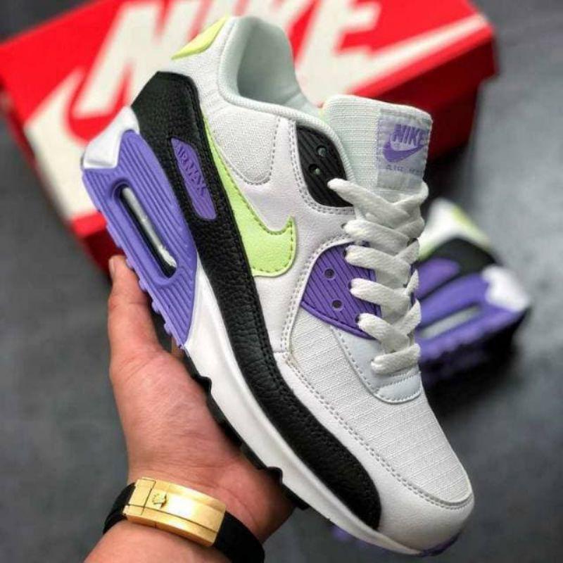 รองเท้าผ้าใบ Nike Airmax 90 สีขาวสําหรับผู้หญิง