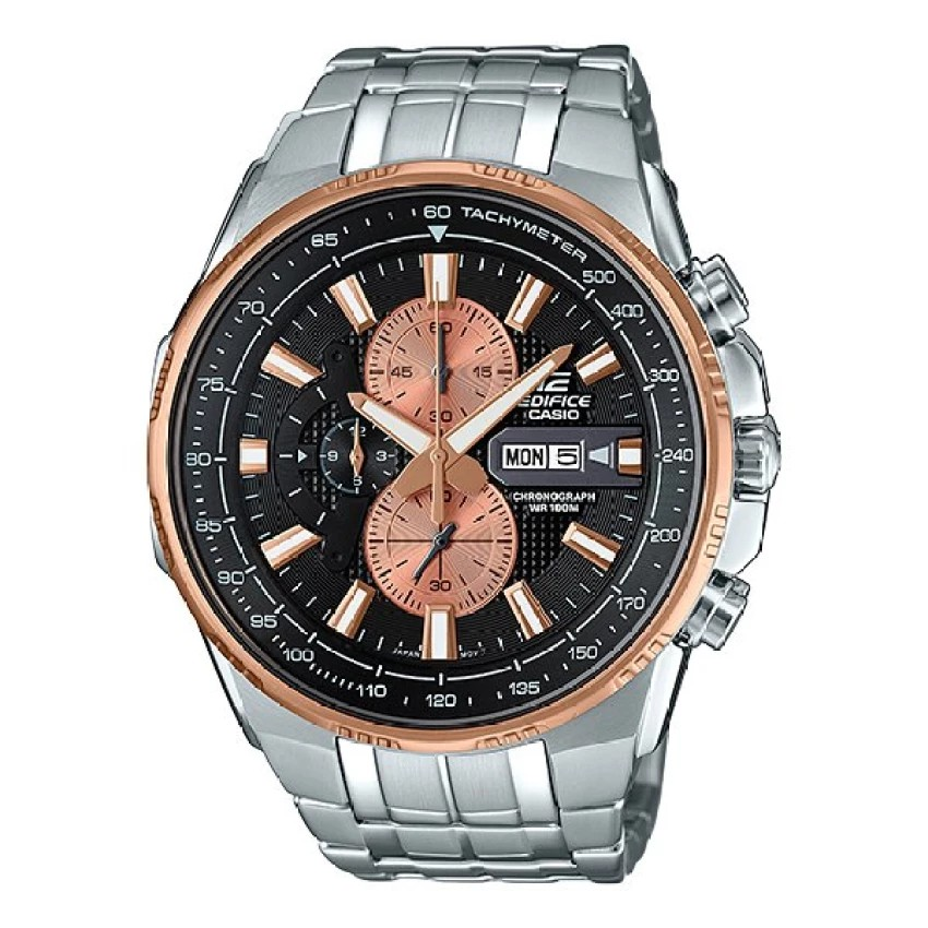 Casio Edifice นาฬิกาข้อมือผู้ชาย สีดำ สายสแตนเลส รุ่น EFR-549D-1B9