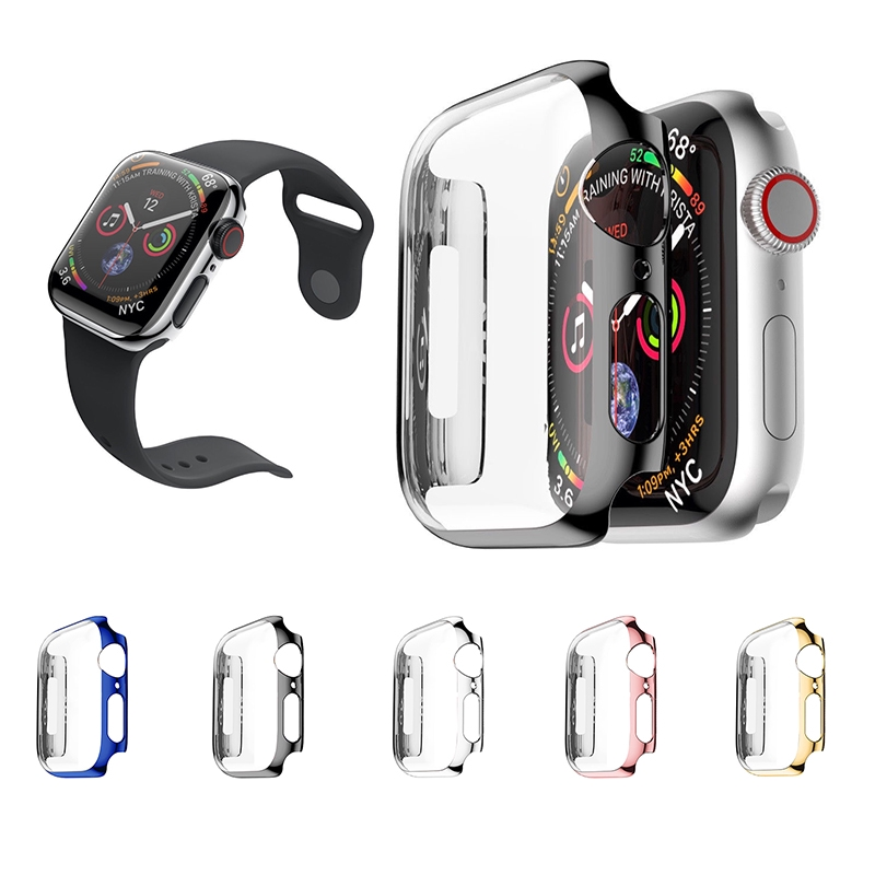 Frame Case For Apple Watch Series 4 Soft Plating Protective Cover  Protector Shell