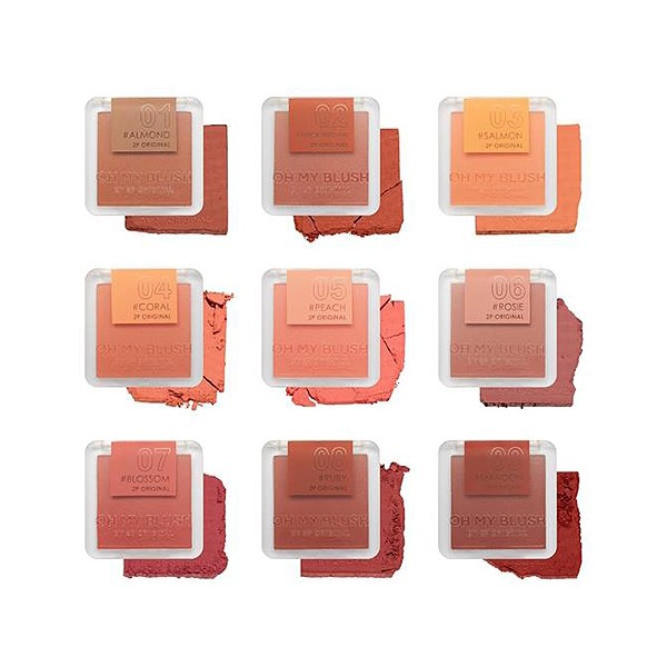 👍✅💯○2P Original OH MY BLUSH บลัชออน 9 colors