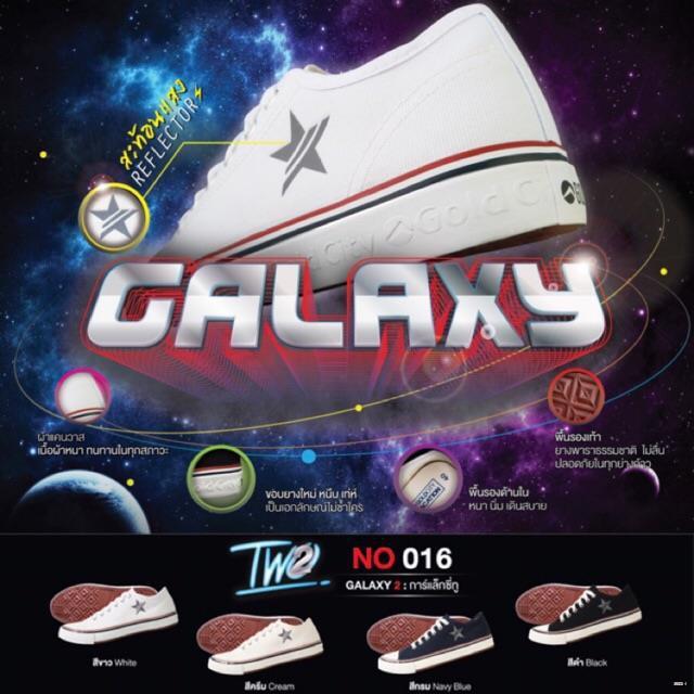 ยางยืดออกกําลังกาย▲۞รองเท้าผ้าใบแฟชั่น รุ่น GALAXY 2 NO016 รองเท้าแฟชั่นโกลด์ซิตี้ ผ้าใบลายดาว  Gold city (Goldcity) โก