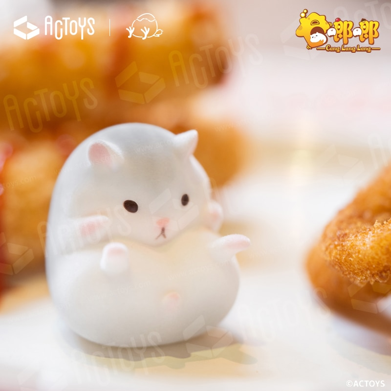 Blind Box 7 Style Anime Figure Model Toys Langlang Hamster Series Surrise Random VC Figurine Garage Kit Gift 6cs/Set