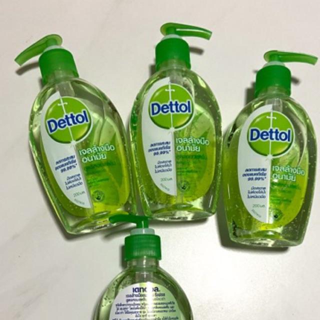 พร้อมส่ง!! Dettol เจลล้างมืออนามัย สูตรหอมสดชื่นผสมอโลเวล่า 200 มล. ผลิตเดือน มีค.2562