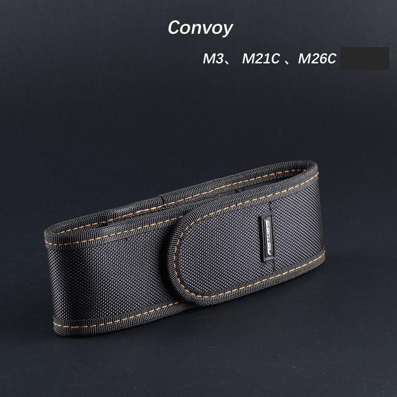ซองไนล่อนคุณภาพสูงสําหรับไฟฉาย convoy m3/m21c/m26c led tw9s