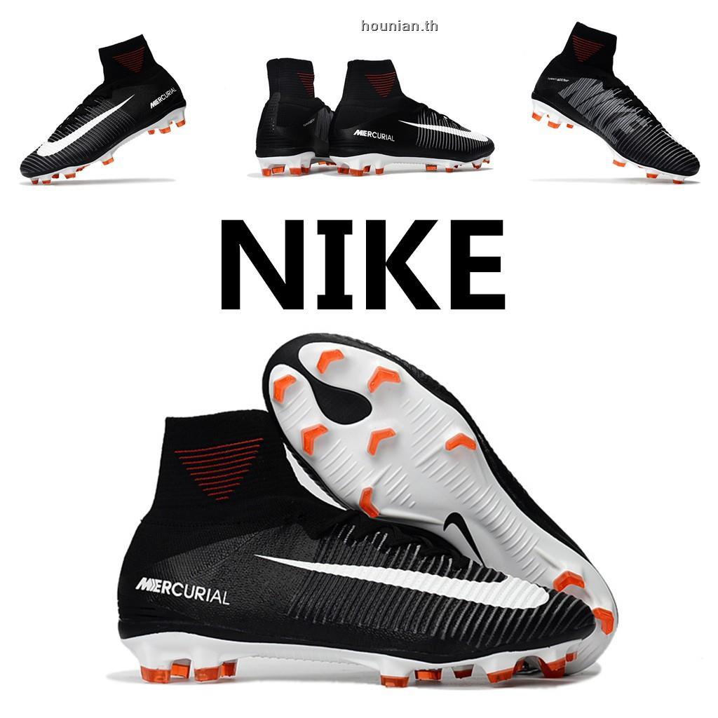 f478c87723 Nike Mercurial Superfly V SX Neymar TF 39-45 ☆สต็อกพร้อม☆รองเท้าฟุตซอล  หนังวัวสีดำ ฟรี ถุงเท้า