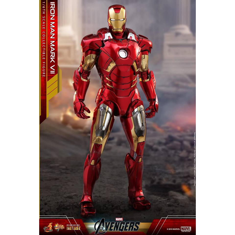 🔜Hot ToysThe Avengers Iron Man MARK VII Diecas MMS500D27 SUIT POD 1/6
