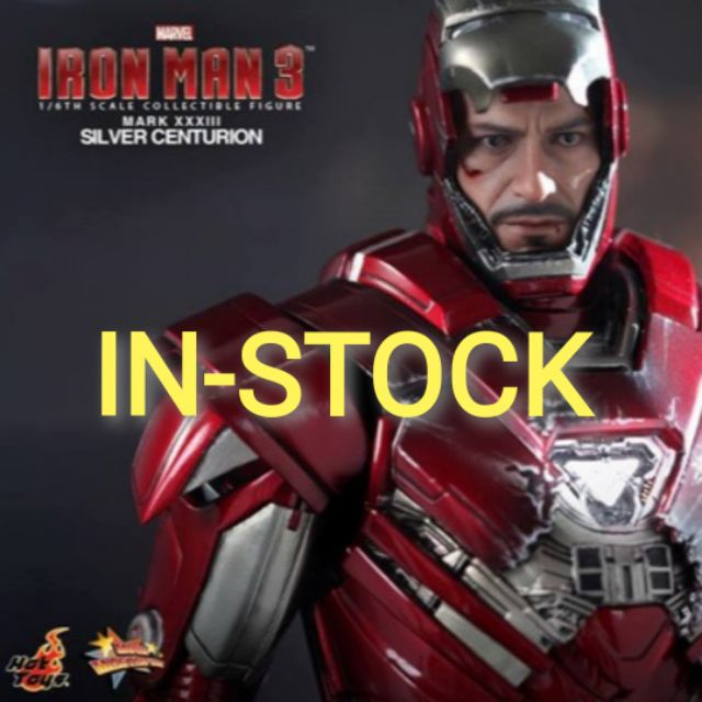 HOT TOYS - IRON MAN MARK 33 SILVER CENTURION : IRON MAN 3