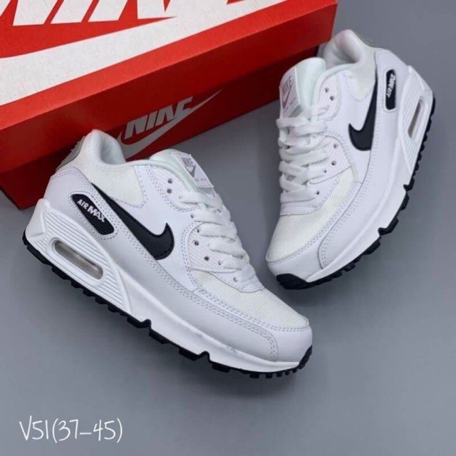 ไนกี้ รองเท้าผ้าใบแบบผูกเชือก Nike Airmax90 ของแท้โรงงานผลิตไม่ผ่านQC